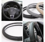 Circle Cool 58005 Black Leather Steering Wheel Cover 14.25″ to 15″ Medium Size