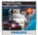 Philips 9003 NightGuide Headlight Bulb, Pack of 2