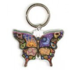 Dan Morris – Celestial Day and Night Butterfly – Metal Keychain