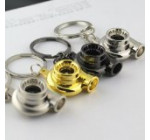 Spinning Turbo Turbocharger Matte Keychain