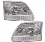 New Pair Set Headlight Headlamp Housing Assembly SAE & DOT Pickup Reviews