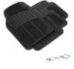 Jaguar Car Truck Black WaterProof Rubber Floor Mats Front & Rear Full Set & Jaguar Fancy 3D Keychain Holder