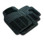 Front & Rear Car Truck SUV Premium Rubber Floor Mats – Black