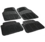 Rubber Queen 70501 4 Piece Vinyl Floor Mats – Black