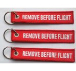 Remove Before Flight – 3 Pack – Embroidered Aviation Key Chain