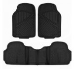 BDKUSA Premium Heavy Duty Rubber Car Mat for Trucks Vans SUVs (Trimmable) – Matte Black