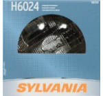 Sylvania H6024 Standard Round Halogen Headlight Bulb (Low/High Beam), (Pack of 1)