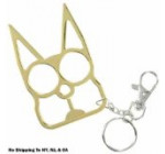 Cat Self Defense Keychain – Gold