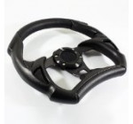 320mm F1 Style Racing Steering Wheel All Black PVC Leather