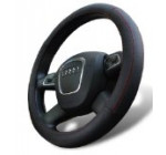 Universal Fit Leather Steering Wheel Cover Medium Size in Black