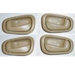 1998-2002 Set of 4 Chevy Prizm Tan 2 LH Left Hand Drivers and 2 RH Right Hand Passenger Inside Door Handle Set 1999 2000 2001 Chevrolet Prism Driver / Passengers Indoor Han 98 99 00 01 02
