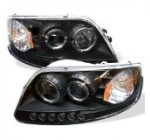 Spyder Auto Ford F150/Expedition Black Halogen LED Projector Headlight