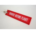 Graphics and More Remove Before Flight Embroidered Keychain, Red