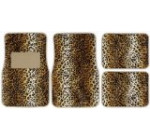 Impulse Merchandisers 44066 Fashion Leopard Carpet Floor Mat Set – 4 Piece