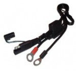 Battery Tender 081-0069-6 Ring Terminal Harness with Black Fused 2-Pin Quick Disconnect Plug