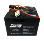 Razor 12 Volt 7Ah Electric Scooter Batteries Beiter DC Power Brand High Capacity – Set of 2 Includes New Wiring Harness Instructions Included! 6-DW-7