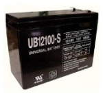 Universal Power Group Inc 86012 Terminal F2 Rechargeable Sealed Lead-Acid Battery 12 Volt, 10 Amp #UB12100-S