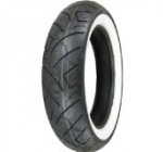 Shinko 777 Series Tire – Front – 130/90-16 – White Wall , Position: Front, Tire Size: 130/90-16, Rim Size: 16, Tire Ply: 4, Load Rating: 67, Speed Rating: H, Tire Type: Street, Tire Application: Cruiser XF87-4181