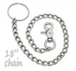 18″ Chrome Steel Wallet Chain Trigger Snap Hook