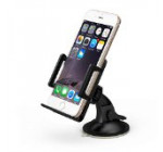 TaoTronics Universal Windshield & Dashboard Car Mount Cradle Holder for iPhone 6 5S 5C 5 4S 4 3GS, Samsung Galaxy Note 3 Note 2 S4 S3 Mega, Nokia Lumia 1020 925 928 920, HTC Desire 500 DROID DNA One 8X 8S, Google Nexus 4, BlackBerry Q10 Q5 Z30 Z10, LG Optimus G, Motorola Moto X DROID MAXX DROID ULTRA, Sony Xperia Z1, Compact Size GPS – 1.97″-3.94″ Extendable – TT-SH02 – Black