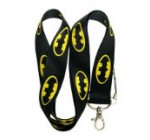BATMAN Lanyard Keychain Holder Black with Batman Logo