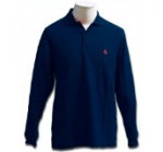 Prancing Horse long sleeve polo – Blue (M)
