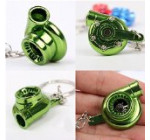 HAMIST Spinning Turbo Keychain Keyring Turbocharger Turbine Key Chain Drift Racing Metallic Green Reviews
