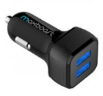 [Smart Port] Maxboost 4.4A/22W Dual Port USB Car Charger -[Black/Black]Portable Fast External Battery Pack Charger compatible to iPhone 6 Plus, iPhone 6, iPhone 5S / 5 / 5C / 4S / 4, Samsung Galaxy Note 4 / 3 / 2 , Samsung Galaxy S6 / S5 / S4 / S3 / Tab 4 3 2 7.0 8.0 10.1 / S 8.4 10.5, LG Optimus G3 / G2 / G Flex / G Pro 2, HTC One M8 Eye / M7 /M4, Nexus 6 / 5 / 4 /7/8, iPad Air 4/3/2, iPad Mini 3 2 Retina, iPod Touch, Xperia Z3 Z2 [a.k.a Extended Backup Power Juick Bank Charging Cable Car Case]