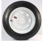 TWO TRAILER TIRES & RIMS 4.80-12 480-12 4.80 X 12 12″ LRB 4LUG WHEEL WHITE SPOKE