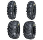 2 FRONT 25-8-12 & 2 REAR 25-10-12 ATV MUD REBEL TIRES