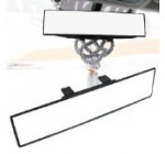 iJDMTOY Universal Fit JDM 300mm 12″ Wide Flat Clip On Rear View Mirror For Car SUV Van Truck, etc