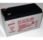 Yuasa (Enersys) Genesis NP7-12T – 12 Volt/7 Amp Hour Sealed Lead Acid Battery with 0.250 Fast-on Connector