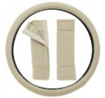 OxGord Steering Wheel Cover, Beige