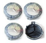 Car-Emall Mercedes-Benz 75mm Outer Diameter Wheel Center Hub Caps 4-pc Set Special Offer