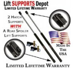 Qty (2) Nissan 350Z 2003 To 2008 Rear Hatch Lift Supports With Rear Spoiler (Bracket & Ball Stud Included)