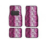 BDK Pink Leopard Animal Print Front & Rear Carpet Car Truck SUV Floor Mats Reviews