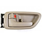PT Auto Warehouse TO-2901E-LS – Inside Interior Inner Door Handle/Trim, Beige (Fawn)- Crew Cabs, Driver Side