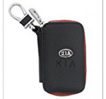 Amooca Car Smart Key Chain Leather Holder Cover Case Fob Remote For Kia