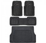 4pc Black Car Floor Mats Set Rubber Tortoise Liners w/ Cargo for Auto SUV Trucks Reviews