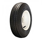 MARASTAR 4.80-8 LRB Bias Trailer Tire Mounted on White Solid 4 Lug Wheel