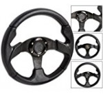 Steering Wheel Type 2 280mm Black w/Horn