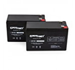 ExpertPower 12v 9ah Sealed Lead Acid Battery with F2 Terminals (.250″) / 2 Pack