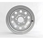 15″ x 5″ Silver Modular Trailer Wheel (5-4.5″ Bolt Circle)