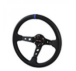 350mm Deep Dish 6 Bolt Steering Wheel Universal Custom (Blue)