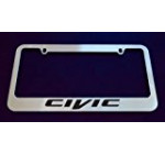 Honda Civic Chrome License Plate Frame (metal)