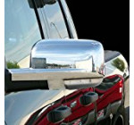 E-Autogrilles Triple Chrome Plated ABS Mirror Cover with Turn Signal Hole for 09-12 Dodge Ram (65-0202)