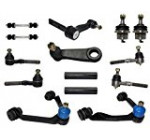 14-Piece 4×4 Only Front Suspension Kit, Upper Control Arms, Lower Ball Joints, Inner and Outer Tie Rod Ends, Sway Bar End Links, Adjustment Sleeves, Pitman and Idler Arm w/2.5″ Bolt Pattern