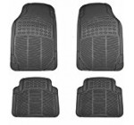 UAA MT-9001BK Black All Weather Trimmable Rubber Floor Mat Set – 4 Piece