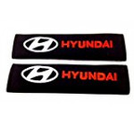 Hyundai Seat Belt Cover Shoulder Pad (Red Lettering)