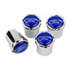 FORD Tire Valve Stem Caps – Blue Logo – USA Made
